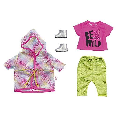 Zapf Creation BABY Born Puppenkleider - Designerkleidung mit Modeaccessoires - Deluxe Trendy Regenbogen Set
