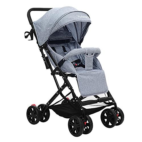 Kinder Buggy, Zusammenklappbar Jogger, nur 5 kg Ultra Leicht Kinderwagen mit sonnenschutz, 8 Räder XL...