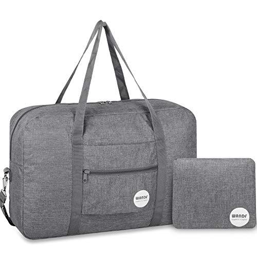 Wandf Leichter Faltbare Reise-Gepäck Handgepäck Duffel Taschen Übernachtung Taschen/Sporttasche für Reisen...