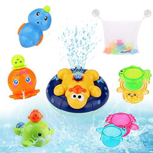 BBLIKE Badespielzeug, Kinder Schwimmende Badewannenspielzeug Wasserspielzeug Rotierendes Induktions Sprinkler...