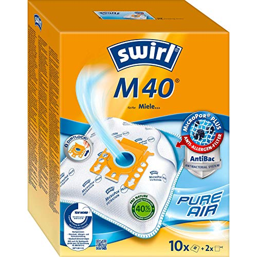 Swirl M 40 MicroPor Plus Staubsaugerbeutel für Miele Staubsauger | Anti-Allergen-Filter | Dauerhaft hohe...