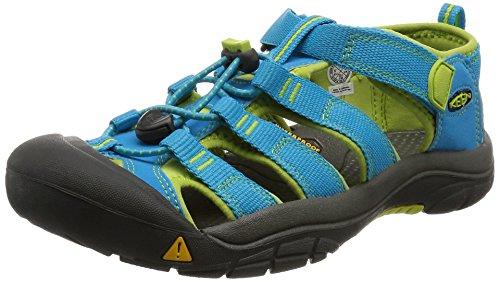 Keen Unisex-Kinder Newport H2 Trekking-& Wandersandalen,Türkis (Hawaiian Blue/Green Glow),35 EU