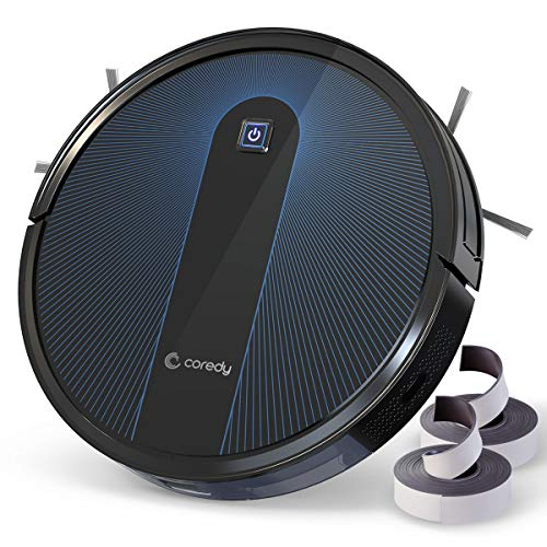 Coredy Saugroboter R650 mit Boost Intellect, Abwaschbarer Filter, 1600Pa Saugkraft, inklusive...
