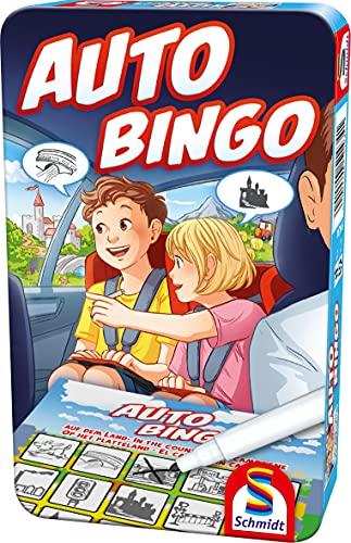 Schmidt Spiele 51434 Auto-Bingo, Bring Mich mit Spiel in der Metalldose, bunt