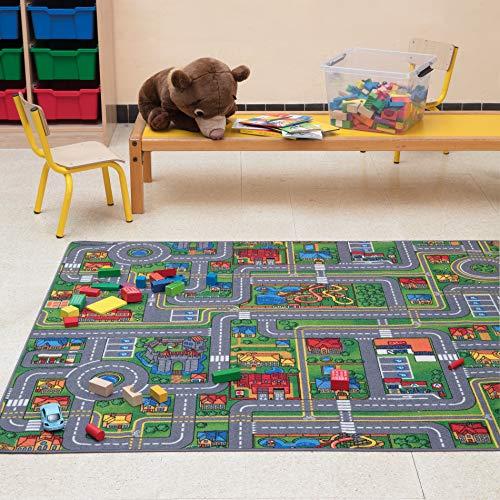 Carpet Studio Spielteppich Straße 140x200cm, Kinderteppich für Schlafzimmer, Kinderzimmer & Spielzimmer...