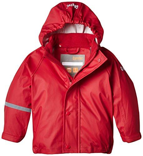 CareTec Kinder wasserdichte Regenjacke, Rot (Red 402), 4 Jahre/104 cm