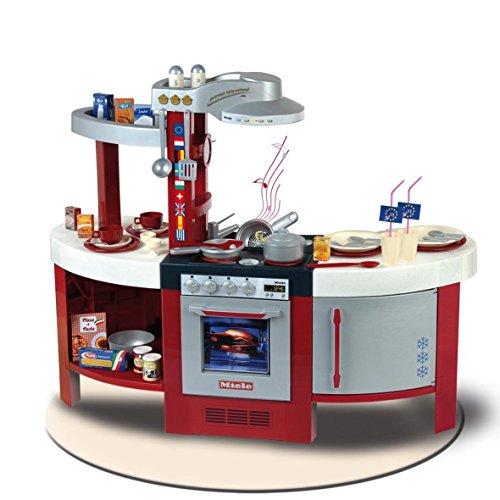 Theo Klein 9155 Miele Küche Gourmet International I Spielküche inkl. Herdplatte mit batteriebetriebenem...