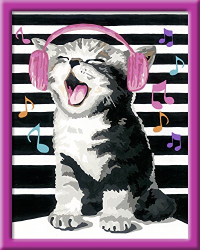 Ravensburger Malen nach Zahlen 28431 - Singing Cat - Perfektes Malergebnis durch hochwertiges...