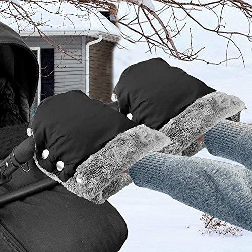 Kinderwagen Handwärmer, Lzfitpot Kinderwagen Handschuhe Handmuff mit Fleece Innenseite, Super Warm & Weich...