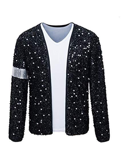 Shuanghao Erwachsene Kind TOP Michael Jackson Jacke Billie Jean Jacke Tanz Cosplay Jackson Kostüm (Give...