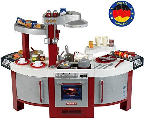 Theo Klein 9125 Miele Küche No. 1 I Beidseitig bespielbare Kinder-Küche I Kochplatte mit Sound und...