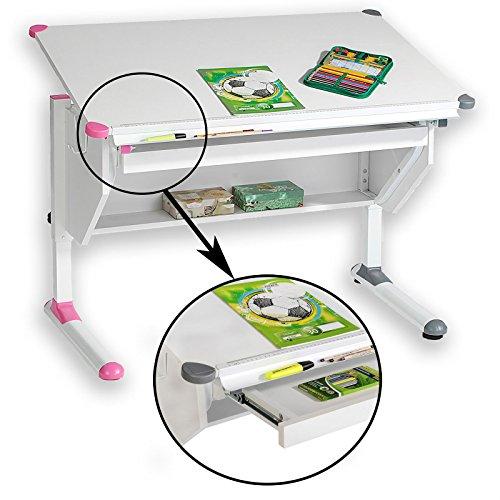 CARO-Möbel Kinderschreibtisch Philipp - mit Schublade höhenverstellbar, neigbar - Schreibtisch für...