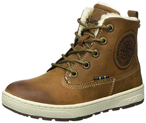 Lurchi Jungen Doug-TEX Combat Boots, Braun (Tan Tabacco 47), 36 EU