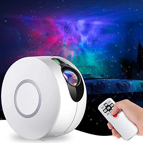 LED Sternenhimmel Projektor mit Fernbedienung, 3 in 1 Nachtlichtprojektor 15 Modi Sternenlicht Projektor...
