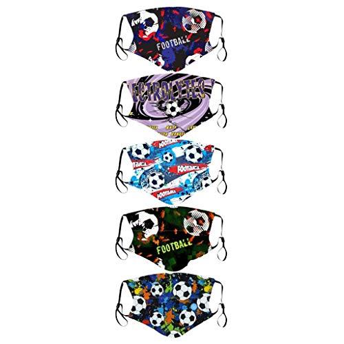 Kinder Mundschutz Multifunktionstuch 3D Cartoon Druck Maske Waschbar Baumwoll Stoffmaske Atmungsaktiv...