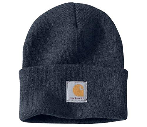 Carhartt Wintermütze für Sie und Ihn, OFA, 100% Polyacryl,elastisch, Marineblau, Einheitsgröße
