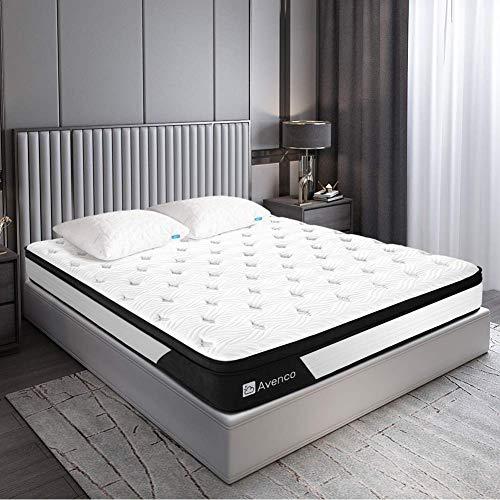 Avenco Matratze 80x200, Premium Höhe 25cm 5-Zonen Taschenfederkernmatratze, H3 Mittelfest, mit atmungsaktivem...