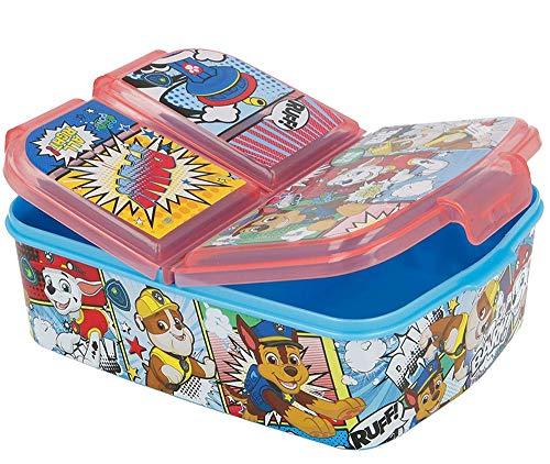 Paw Patrol Kinder Brotdose mit 3 Fächern, Kids Lunchbox,Bento Brotbox für Kinder - ideal für Schule,...