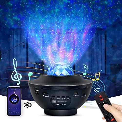OTTOLIVES LED Sternenhimmel Projektor Baby Nachtlichter Projektor Lampe Sternenhimmel Lampe, mit Fernbedienung...