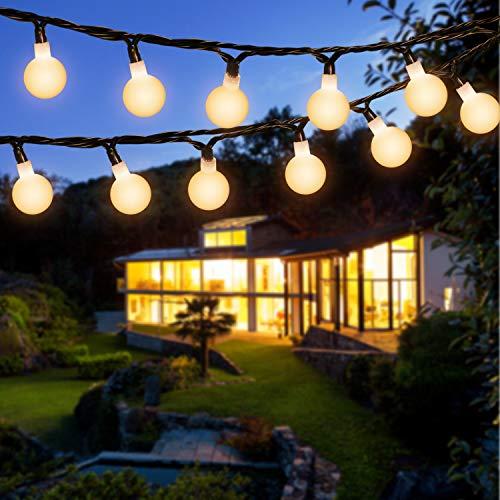 Solar Lichterkette Außen, OxyLED 120 LED 20M Globe Lichterkette Außen Solar Lichterkette WarmeWeiß 8 Modi...