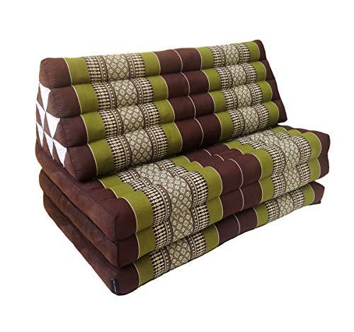 Collumino® Extra breite 80 cm traditionelle thailändische Kapok-Meditations-Doppel-Matratze mit dreieckigem...