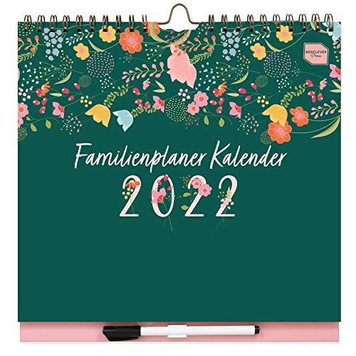 Boxclever Press Familienplaner Kalender 2021 2022. Familienplaner 2022 mit 6 Spalten. Wandkalender 2021 2022...