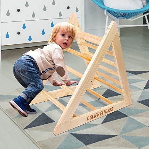 CCLIFE Kletterdreiecke nach Pikler Art Holz Indoor für Babys Kinder Kleinkinder Aktivspielzeug natürliche...