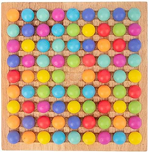 Holz Clip Beads Brettspiel, Montessori Educational Holzspielzeug - Clip Beads Spiel Puzzle Board - Holz Clip...