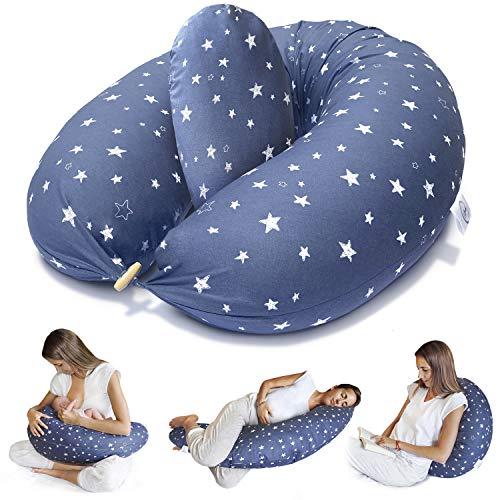 Bamibi ® Stillkissen Seitenschläferkissen Schwangerschaftskissen zum Schlafen Lagerungskissen mit Bezug aus...