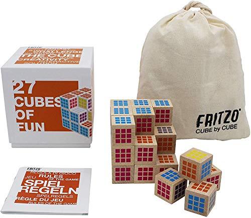 FRITZO Cube Premium Holzspiel Gesellschaftsspiel & Knobelspiel für Erwachsene, Jugendliche & Kinder 3D...