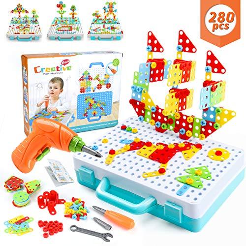 WEARXI Mosaik Steckspiel, Spielzeug ab 3 Jahre, Geschenk für Kinder - 3D Puzzle Kinder Bausteine Kinder...