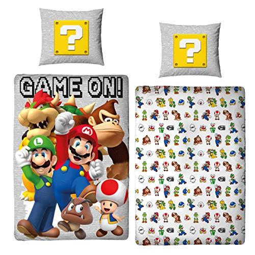 Character World Bettwäsche Super Mario 135x200 + 80x80 deutsche Größe · Nintendo · Mario Luigi & Friends...