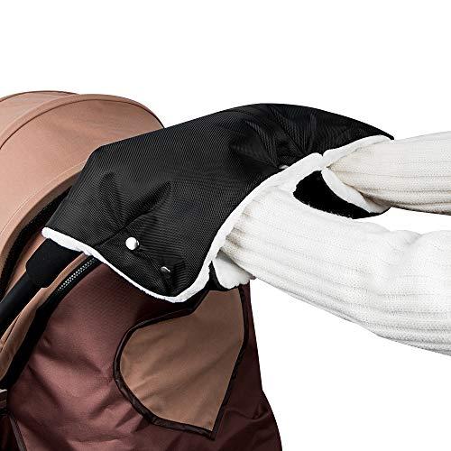 mixigoo Handwärmer Handschuhe Kinderwagen Handmuff mit Fleece Innenseite, Wasserfest atmungsaktiv und...