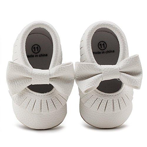DELEBAO Babyschuhe Krabbelschuhe Lederschuhe Leder Baby Schuhe Lauflernschuhe Lederpuschen Weicher und Rutschfester Sohle f/ür Kleinkind