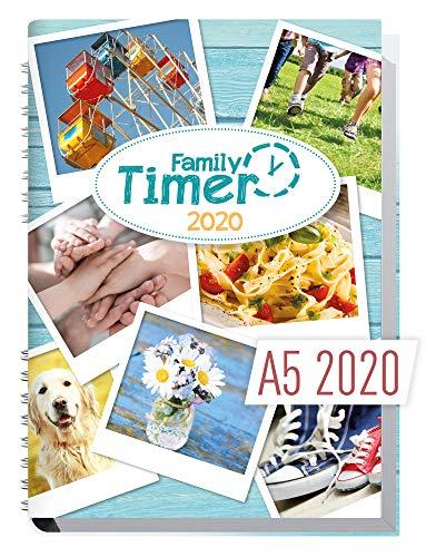 Family-Timer 2020 - Der Familien-Planer! 12 Monate Januar - Dezember 2020, Familienkalender für bis zu 4...