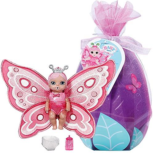 Zapf Creation 904336 BABY born Surprise Babies 5 - kleine Schmetterlingspüppchen mit Trink- und...