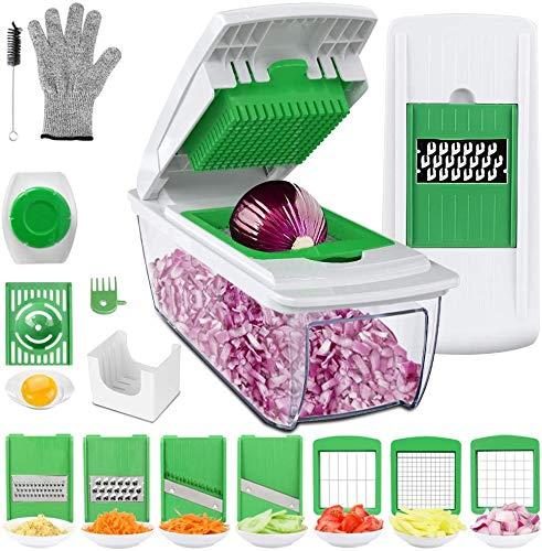 Uvistare Gemüseschneider Obstschneider kartoffelschneider, Mutischneider Gemüsehobel mit Messereinsätzen...