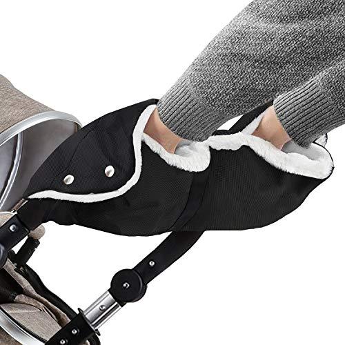 Oladwolf Kinderwagen Handwärmer, Kinderwagenmuff mit Warm Flanell, Handmuff Handschuhe Universalgröße für...