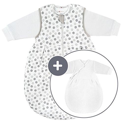 Coconette Ganzjahres Baby-Schlafsack Circle - 2-teilig: Langarm Innensack & gefütterter Außensack für...