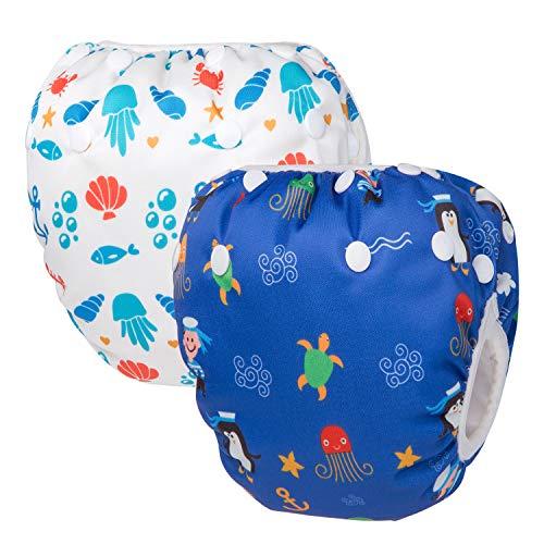 HBselect Baby Schwimmwindeln Kinder Schwimmhose wiederverwendbare wasserdichte Windeln Badewindelhose Badehose...