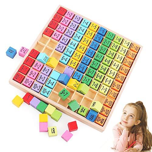Sunshine smile Holz Mathematik Spielzeug,Holz Multiplikationstabelle,Mathematik Spiele,Holz...