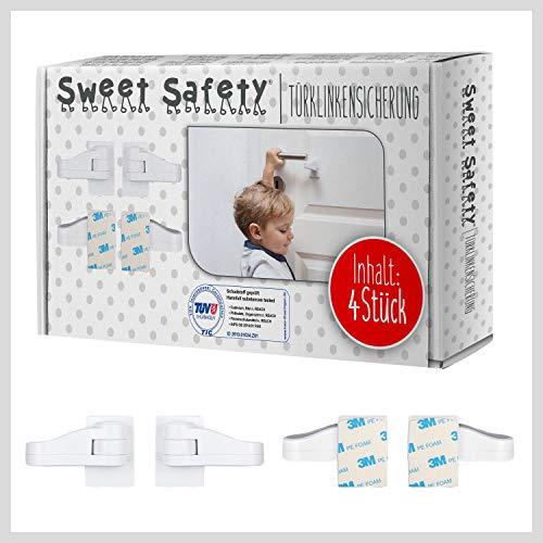 Sweet Safety® Baby Türklinkensicherung – Bombenfest – TÜV Schadstoff geprüft – Türdrückerschloss...