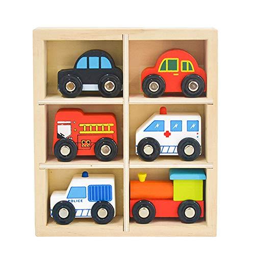 YUIP Holzspielzeug Autos,Spielzeug-Auto Verkehrspiel mit...