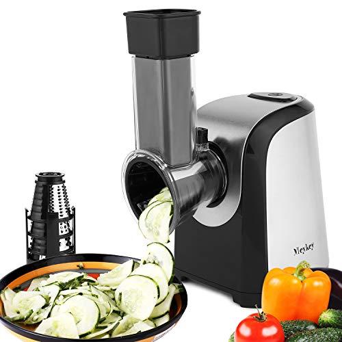 COOCHEER Elektrischer Gemüseschneider Gemüsehobel, 150W Elektrische Küchenreibe Zerkleinerer Gemüseraspe...