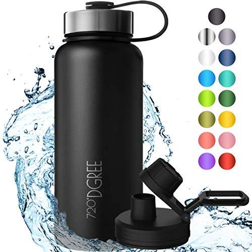 """720°DGREE Edelstahl Trinkflasche """"noLimit"""" – 950ml - Auslaufsicher, Kohlensäure geeignet, BPA-Frei -..."""