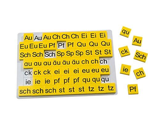 Betzold 86988 Lese-Magnetbox Buchstabenergänzung 63 magnetische Buchstabenblöcke