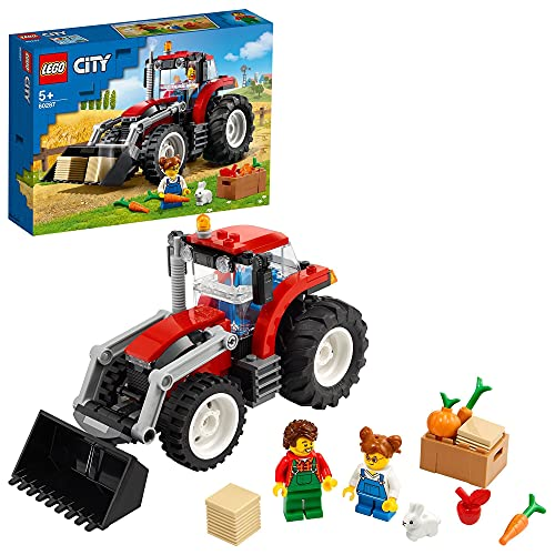 LEGO 60287 City Traktor Spielzeug, Bauernhofset mit Hasenfigur für 5-jährige Jungen und Mädchen