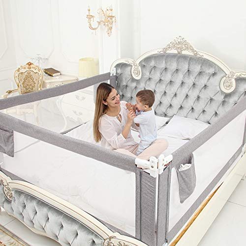 ZEHNHASE Bettgitter, Kinderbettgitter zum vertikalen Heben, Sicherheitsschutz, Bettgitter zum Schutz vor...