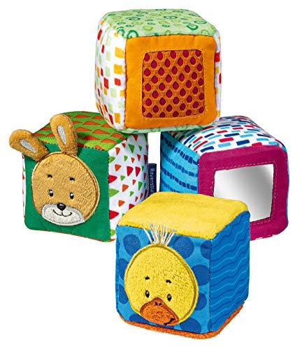 Ravensburger ministeps 4161 Spiel-Würfel, 4 bunte Stapelwürfel mit Spieleffekten, Baby Spielzeug ab 9...
