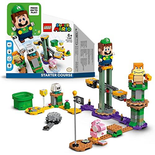 LEGO 71387 Super Mario Abenteuer mit Luigi – Starterset, Spielzeug mit Einer interaktiven Figur, modulares...